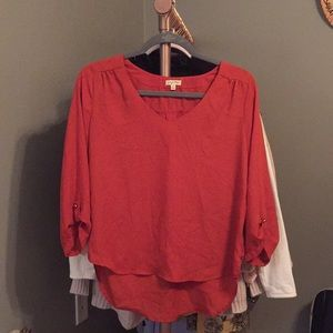 Burnt Orange work blouse